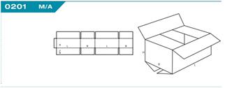 Tető-Fenéklapolt (TFL) Hullámkarton doboz